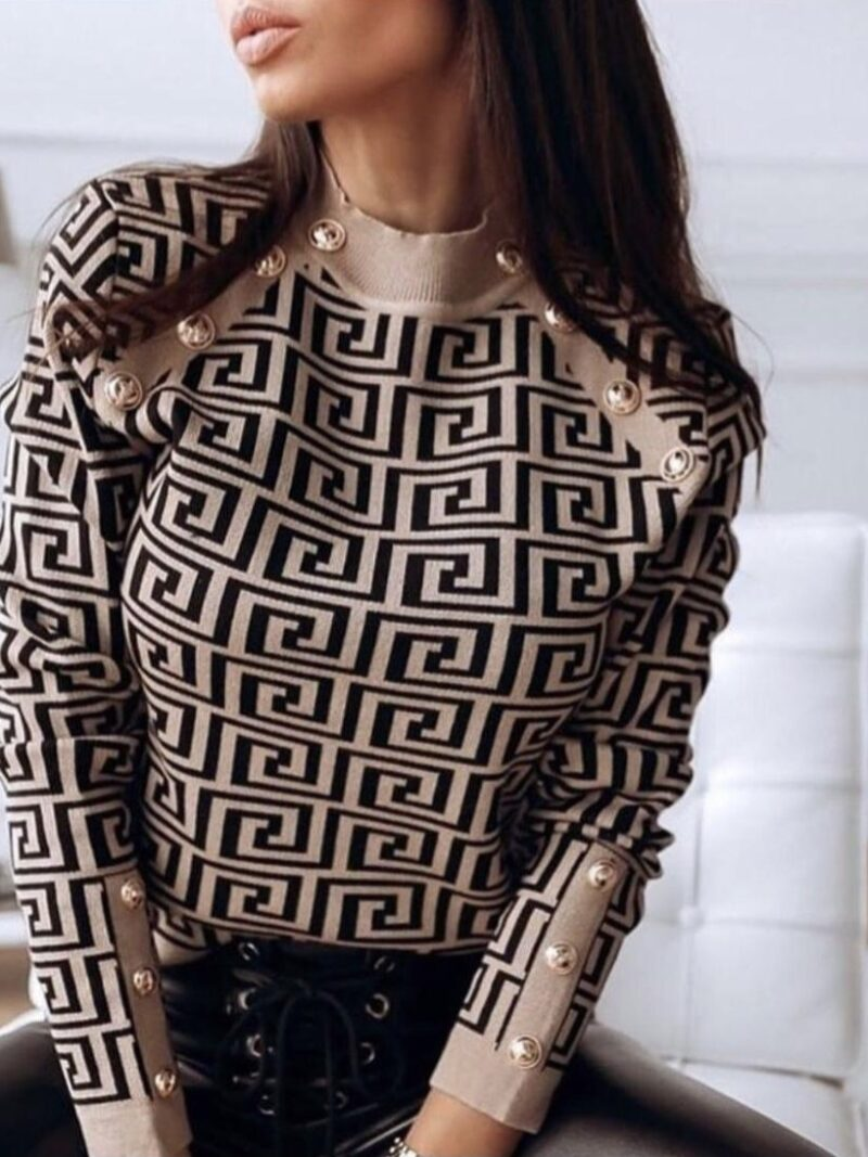 חולצת סריג פנדי קאמל